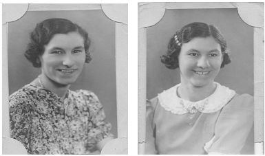 Elsie and Ethel Solly, 22 and 16, who were killed in the London Blitz in 1941