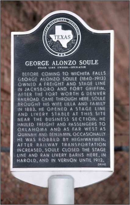 Historical Marker commemorating George Alonzo Soule