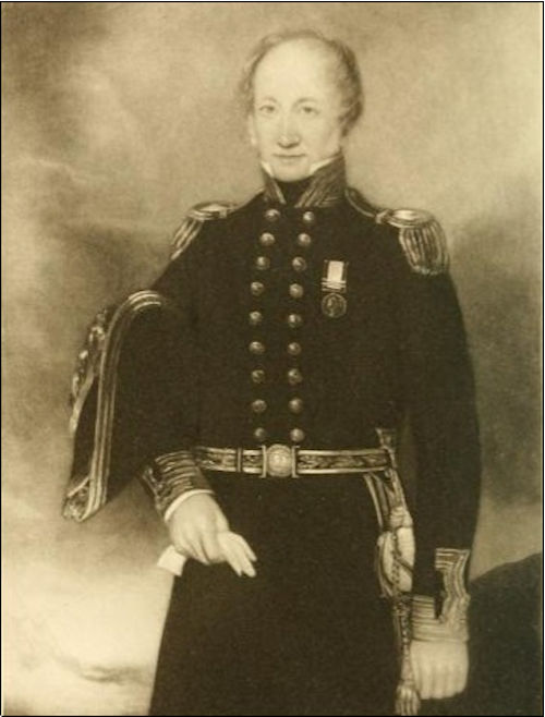 John Carden Captain of the HMS Macedonian