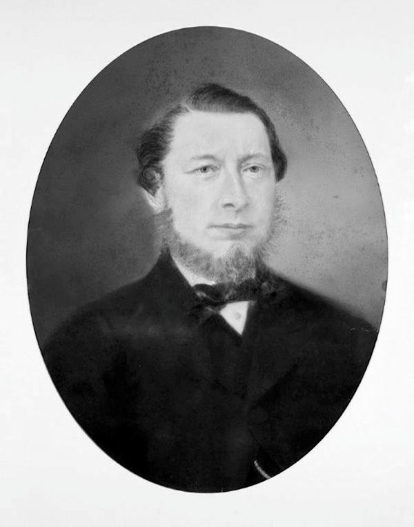 Portrait of Thomas Saul aged about 40, mid 1860s, artist unknown