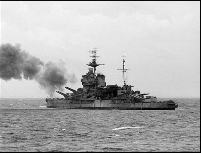 HMS Warspite, a friend of Norman's brother served on her. (Ed: I know it's a tenuous link, but I needed an image!)