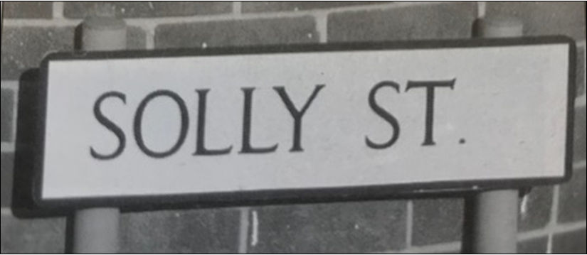 Street sign, Solly St, Sheffield