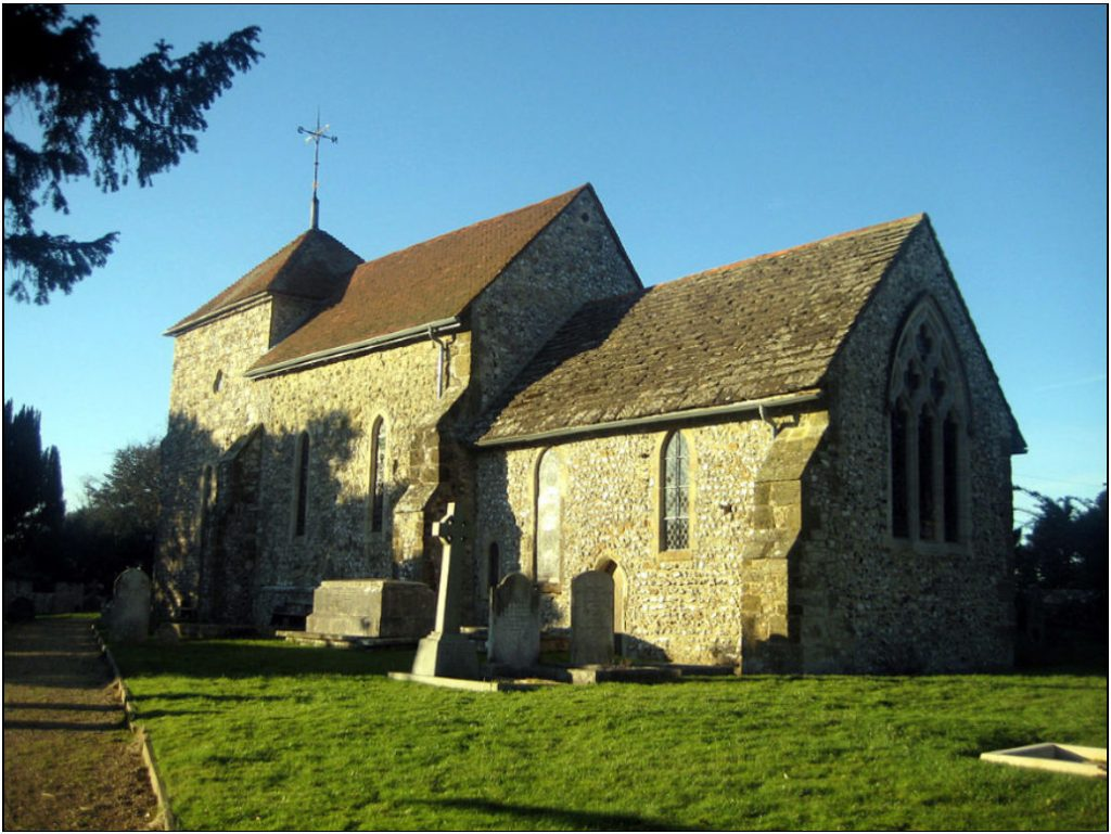 St Mary's, Sullington, where Colin Sole's ancestor's were baptised