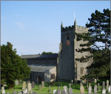 St Oswalds' Warton, where Elizabeth Saul married Thomas Barrow. The copyright on this image is owned by Alexander P Kapp