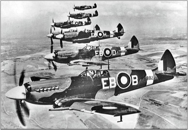 Supermarine Spitfires F Mk X11s of 41 Squadron