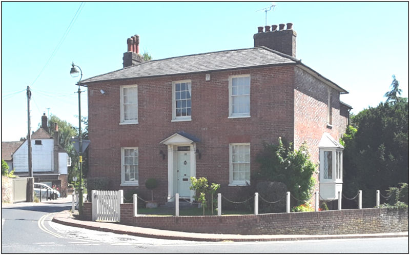 Pear Tree Cottage today, where Francis Sewell lived after his marriage to Julia Dent