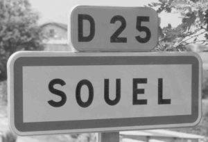 Road sign - Le SUEL (Ardèche) near Aubenas