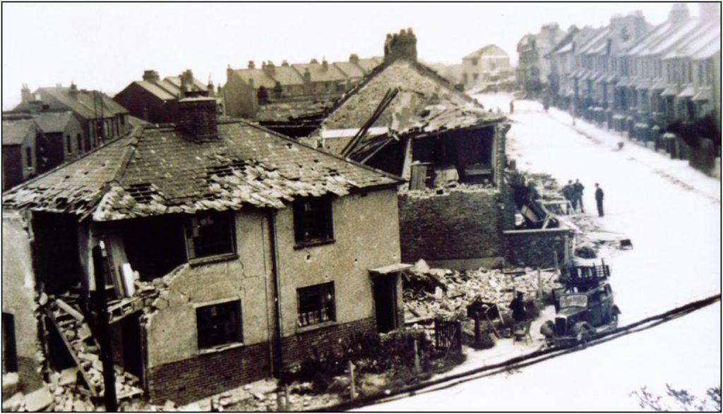 Bomb damaged properties in Ramsgate