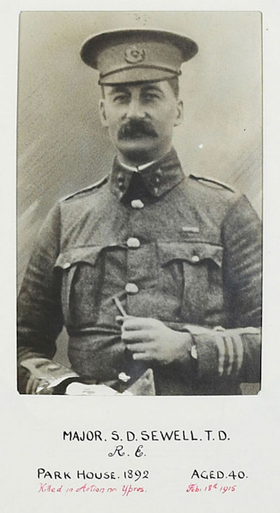 Major Sidney Davies Sewell. Reprinted with kind permission of Tonbridge School