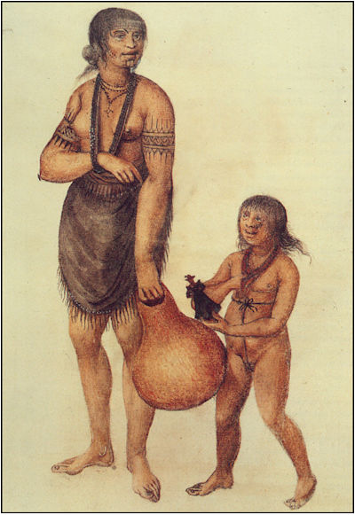 Native mother and child by John White