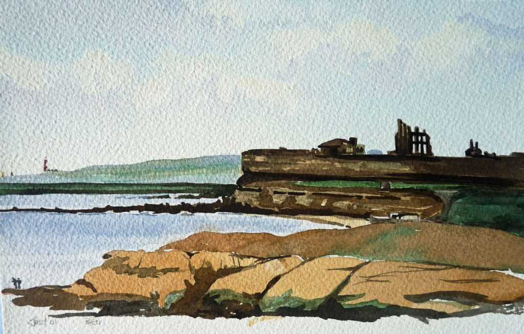Tynemouth Skyline, Water Colour by Brenda Ord
