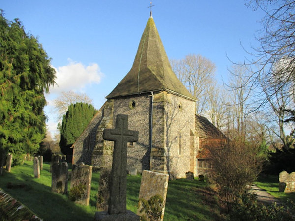 St James Church, Ashurst where James Soale and Margery Lassiter married