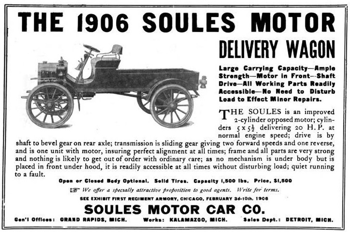 Advertisement for the Soules light delivery wagon