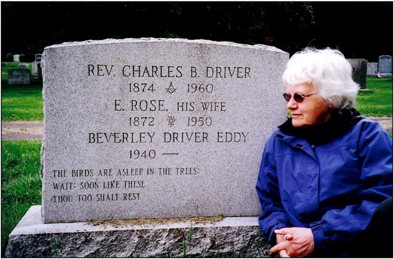 Ella Rosetta Driver (nee Sole) and husband Charles Driver's grave stone with grand daughter Beverley Driver Eddy beside it.
