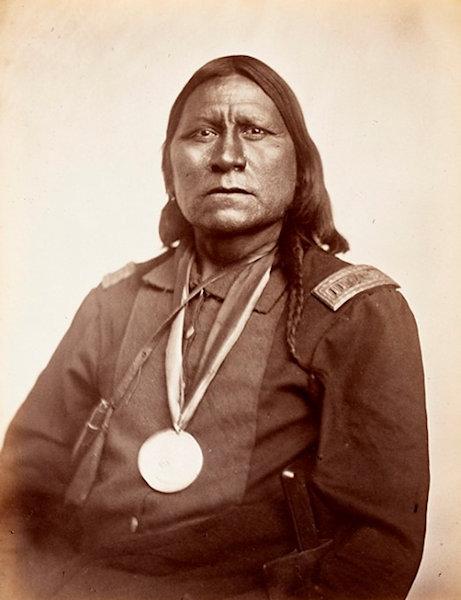 Satanta, White Bear, a Kiowa war chief.