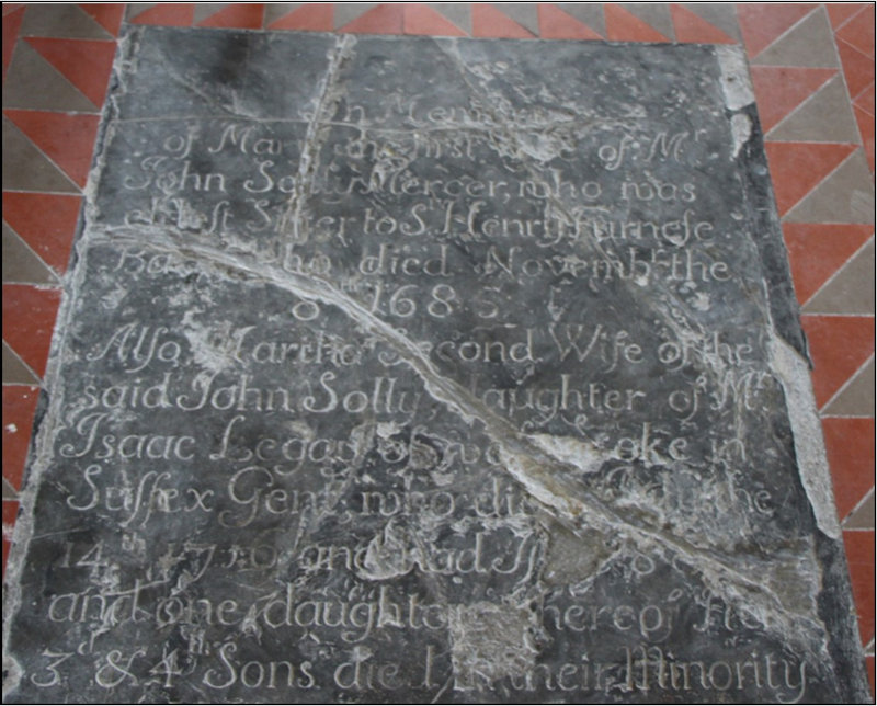 Solly (and others) memorial, St Peter's, Sandwich