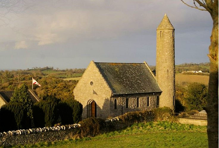 St Patrick's Church in the village of Saul, County Down