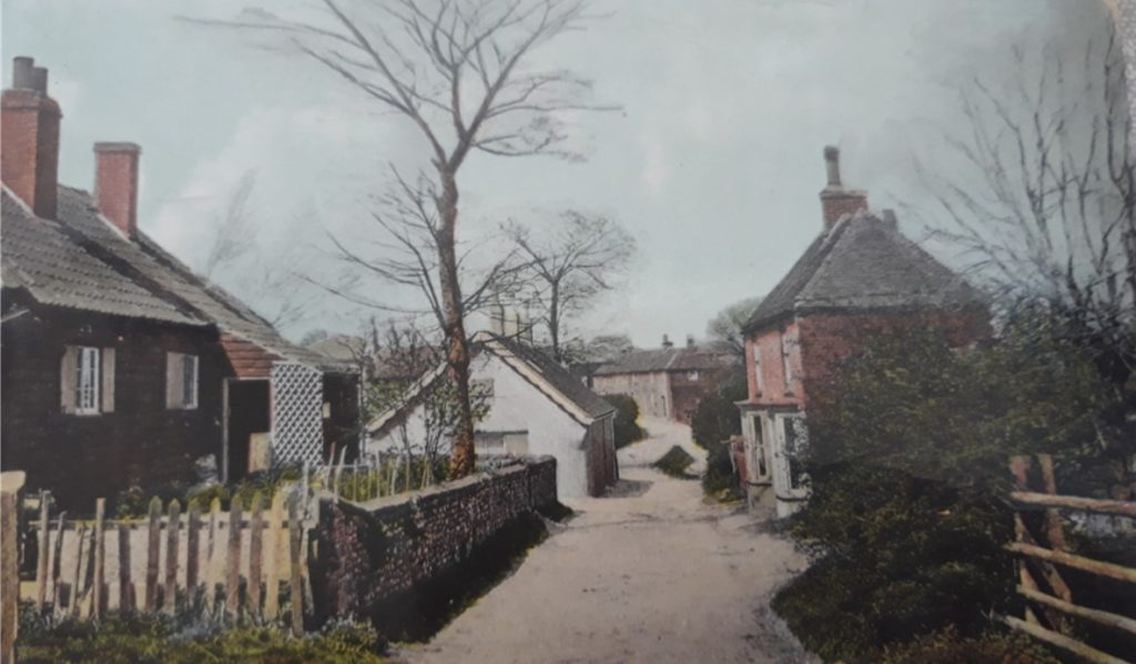 The Cottage, on the right which Richard Solly owned.