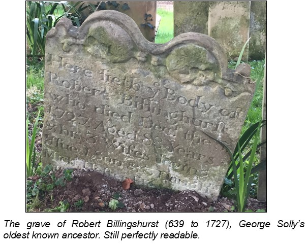 The grave of Robert Billingshurst